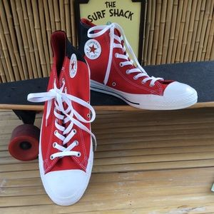 Converse All Star High Tops NEW Red Black Size 12